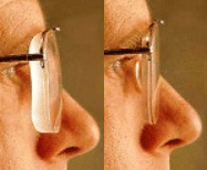 How can I get my eyeglass lenses to look thinner